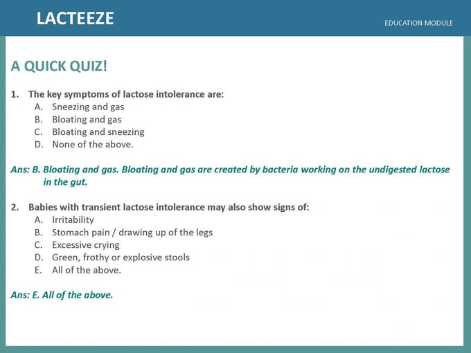 Lacteeze Education Module 15