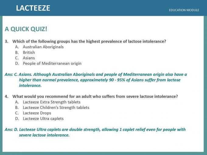Lacteeze Education Module 16