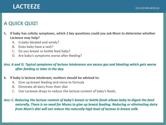 Lacteeze Education Module 17