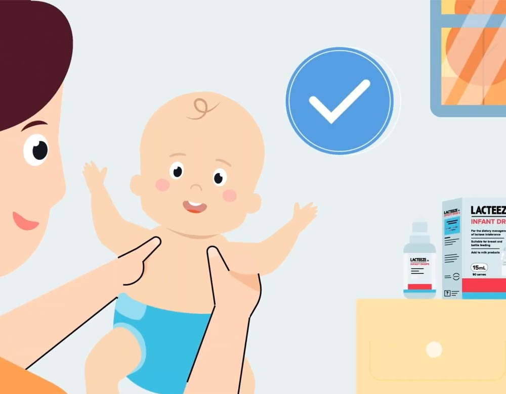 Lacteeze colic video illustration
